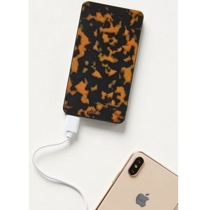 ANTHROPOLOGIE SONIX TORTOISE PORTABLE PHONE CHARGE